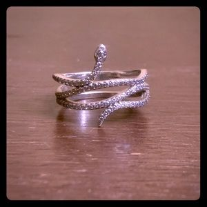 Pandora Sterling CZ Snake Ring